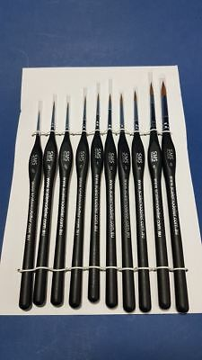The Scale Modellers Supply Sable Tri-grip Brush Set (10Pcs)