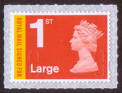 GB Royal Mail 1st Large Signed For machin stamp SG U3050 M18L PB-sL