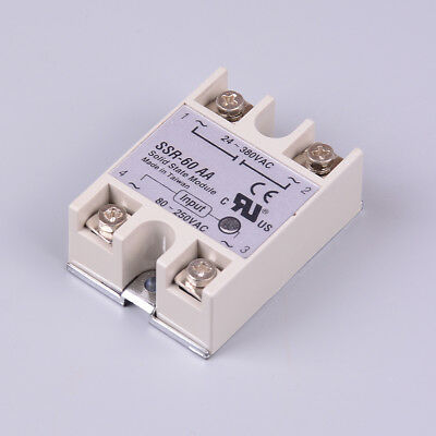 Solid sta relay SSR-60AA 60A AC control relays 80-250VAC to 24-380VAC SSR 60AA B