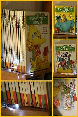 VINTAGE SESAME STREET BOOK COLLECTION, hard covers Vols 1-14, EXC condition.