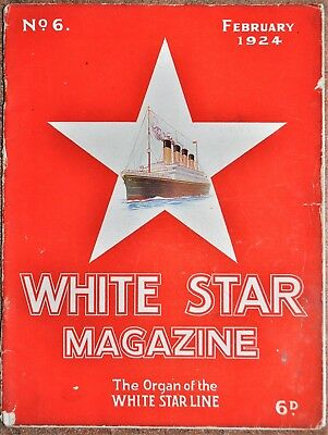 Original White Star Line House Magazine Issue Number 6   February 1924 Rare