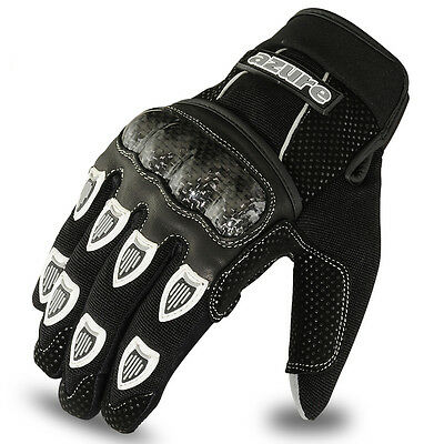 Motocross BMX Gloves Racing Motor Cycling, Offroad, Enduro, MTB, Black, Medium