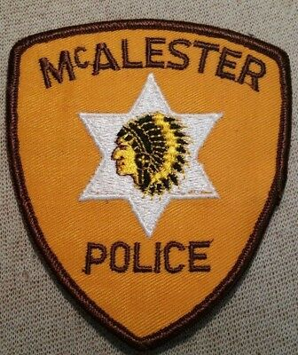 MT McAlester Montana Police Patch