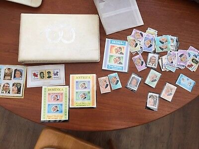 1973 Royal Wedding Stamp Album With Stamps