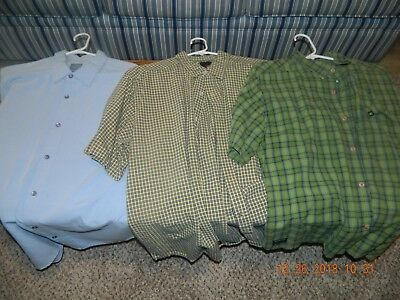 Quick Silver surf wear - men's shirts L - lot of 3 button down short sleeve -