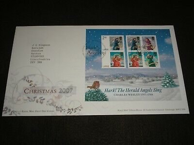 2007 GB Stamps CHRISTMAS MINI SHEET First Day Cover TALLENTS HOUSE Cancels FDC