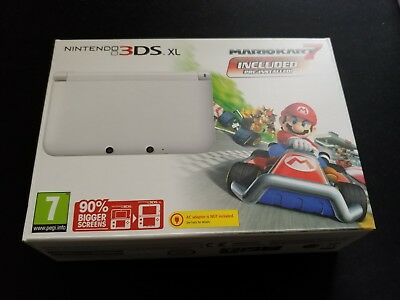 *no Console* Nintendo 3Ds Xl White Box Packaging Only Mario Kart 7