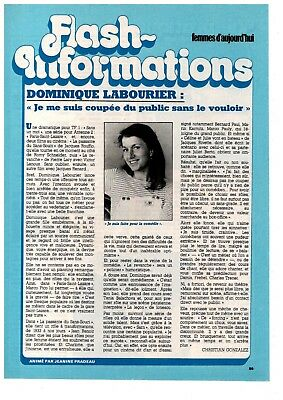 1 Page ▬► Clipping Flash Information 1981 Danielle Bouvet