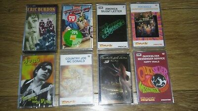 Job lot 8 Diff CLASSIC Rock Cassette Albums ELO Pentangle Animals Psych etc