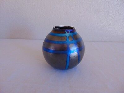 Elaine Hyde Signed Art Glass Vase 1991 Free Shipping