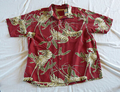 Tommy Bahama 100% Silk lobsters Hawaiian shirt new w/tag