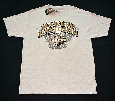 Harley-Davidson Men's T-Shirts, Various Designs in Light Gray Color Large, LOOK!