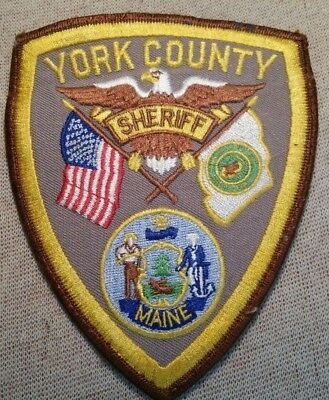 ME York County Maine Sheriff Patch