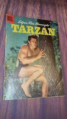 TARZAN #87 1956 Gordon Scott Cover Edgar Rice Burroughs Dell Comic Book