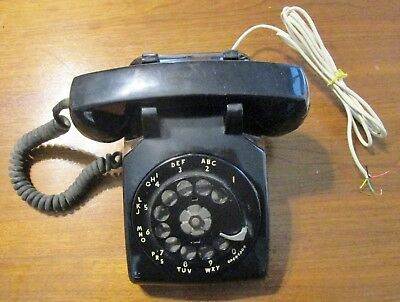 Vintage 1958 Bell System Western Electric C/D 500 Rotary Dial Phone  ~ Working