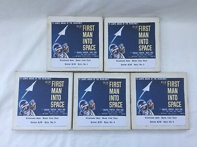 """ FIRST MAN INTO SPACE "" (Satellite of Blood ) 5 X 400ft CINE FILM 8mm B/W SOUND"