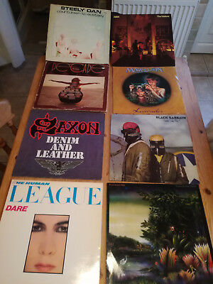 "Job lot 34 12"" Vinyl Record Albums mostly 60's to 80's rock & pop All listed"