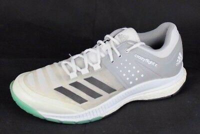 save off 97621 40ba1 Adidas Crazyflight X pour Femme Volley-Ball Chaussures Gris Blanc SIZE 8.5 M