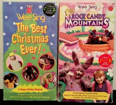 Wee Sing The Best Christmas Ever Vhs.Wee Sing The Best Christmas Ever Big Rock Candy Mountains Vhs Lot Of 2