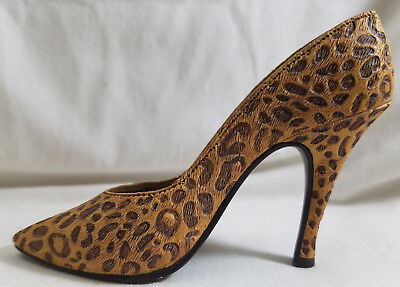 "Just the Right Shoe by RAINE 1998  ""LEOPARD STILETTO ""    EUC"