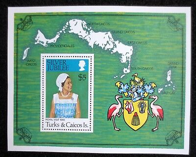 Turks & Caicos Islands - 1977 - Silver Jubilee - SG MS 475 - MNH