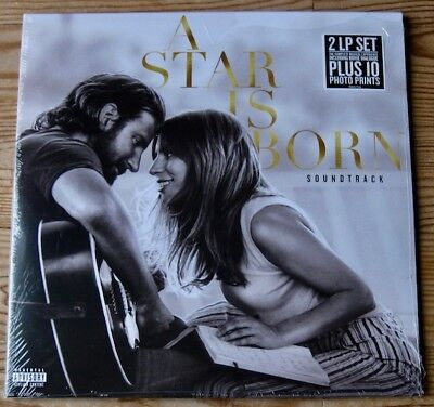 A Star Is Born Soundtrack Lady Gaga - Sealed 2 Lp Set + 10 Photo Prints - 2018