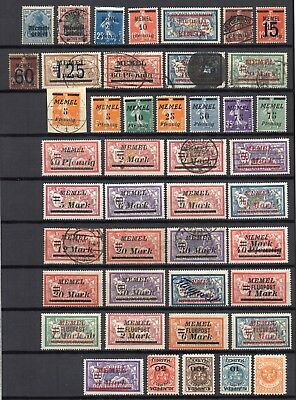 GERMANY Occupations MEMEL 1920 - 1923 Mixed Lot of 44 MINT & USED