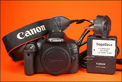 Canon EOS  550D 18MP DSLR Camera,  With Battery & Charger & Strap 4,317 Shots