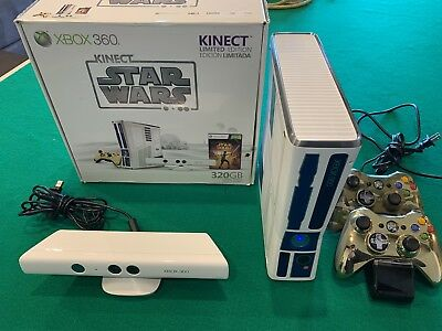 Microsoft Xbox 360 Kinect Star Wars Limited Edition 320GB Matte White Console