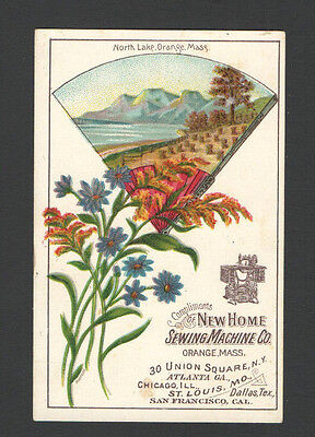 Victorian Tradecard North Lake Orange Mass NEW HOME SEWING MACHINES AW DuncanAGT