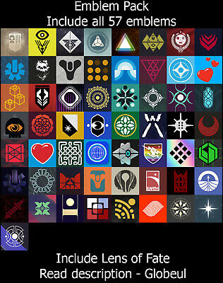 Destiny 2 Emblem - Black Skies, Circles Entwined & + [PS4/PC/XBOX] Read Desc