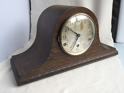 Oak Cased NAPOLEON HAT Westminster - Whittington Chimes Anvil Mantel Clock