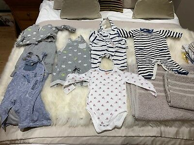 Baby Boy Clothes 0-3 Months Bundle (Gap, Next, John Lewis, Polarn O Pyret)