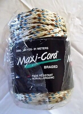 Maxi-Cord Braided Macrame Polypropylene F35 Beige/Blue/Brown100yds 91m sealed