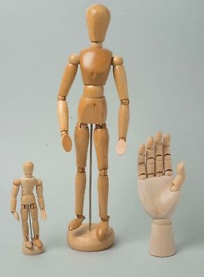 Job Lot Artist Movable Joint Model Mannequin x 2 Plus Right Hand