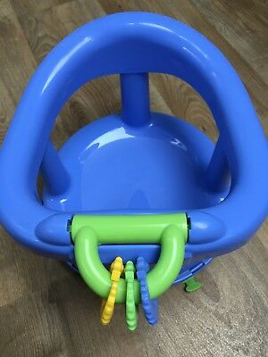 Swivel Baby Bath Seat Blue Support Chair 360 Swivel Degree Safety 1st