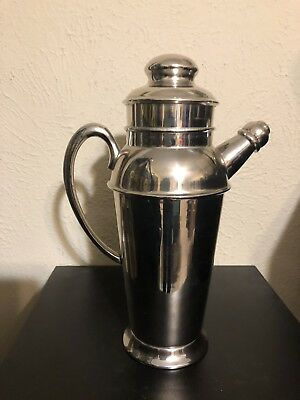 Restoration Hardware Cocktail Martini Shaker With Lid And Pour Spout