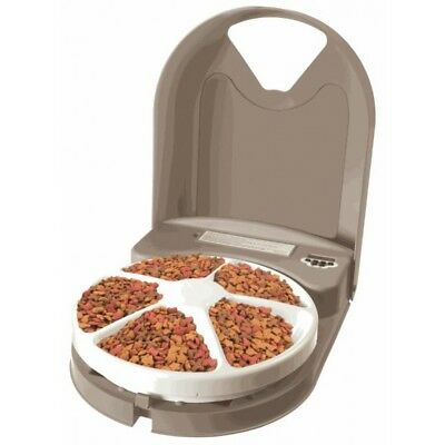 PetSafe Eatwell 5 Meal Timed Automatic Pet Feeder PFD11-13707 dog cat 5 day