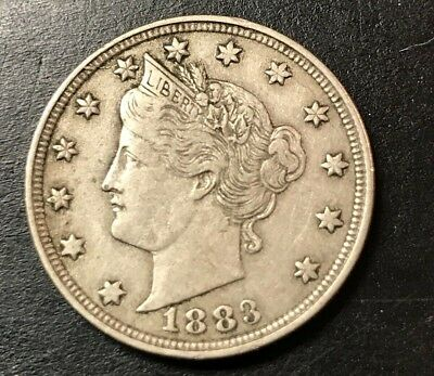 "1883 Liberty Head V Nickel without ""Cents"""