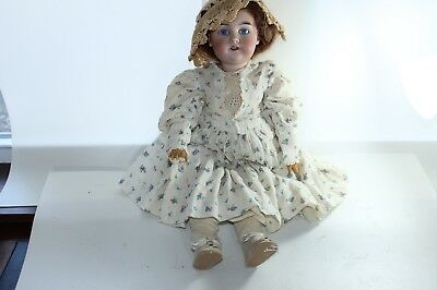 "Vintage Armand Marseille Princess 1 Bisque Head Doll Antique Clothes 23"" Germany"