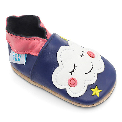 Dotty Fish Soft Leather Baby Shoe. 0-6 Months to 4-5 Years. Toddler Shoes....