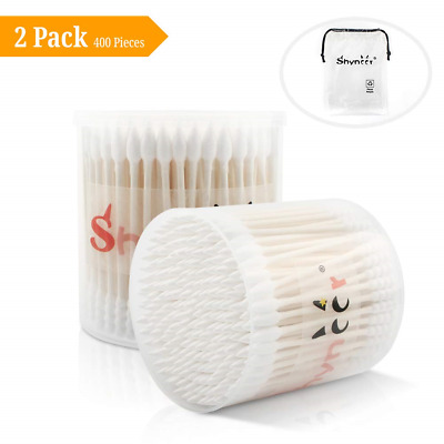 400 Pieces Cotton Swab Buds,Cotton Buds for Baby or Adult,7cm Wooden Sticks...