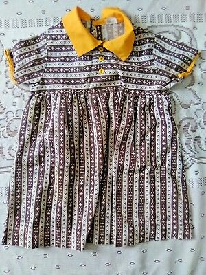 Vintage Sears Childs Dress Brown White Doll