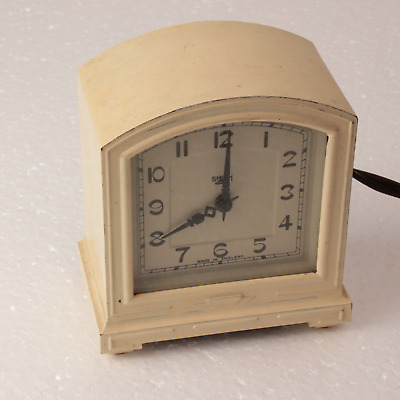 Classic Art Deco Smith Sectric Bakelite clock, working
