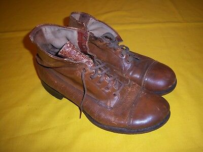 RARE 1904-1912 USMC FIELD MARCHING BOOTS EXC USED, Sz 8 - 9 1/2 ?