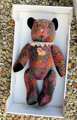 Large Vintage German Clown Bear Mint With Tags & Box