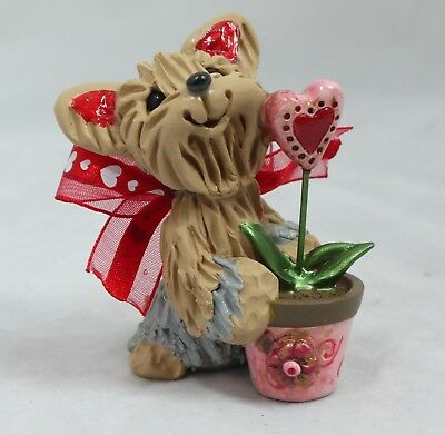 Yorkshire Terrier Yorkie Love Sprout Pup Valentine's Day Collectible Figurine