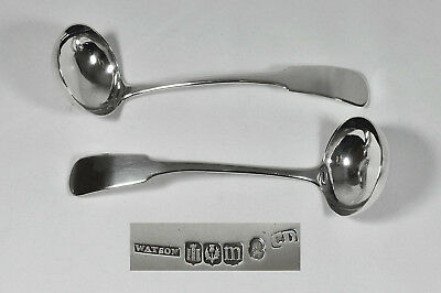 Pair Georgian Scottish Silver Toddy Ladles Edinburgh Charles Dalgleish 1818