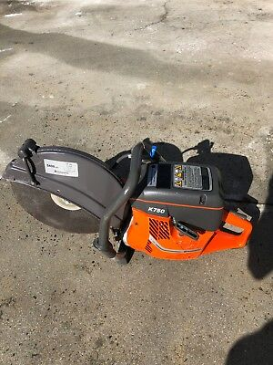 "Husqvarna 14"" K750 Power Cutter Concrete K Saw Gas Diamond Blade"