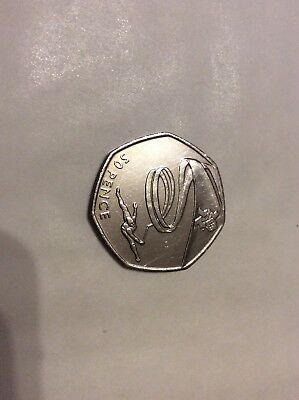 """2011 - LONDON 2012 OLYMPIC GAMES """" Gymnastics """" 50p COIN"""